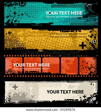 Grunge banners with place for your text. - stock vector