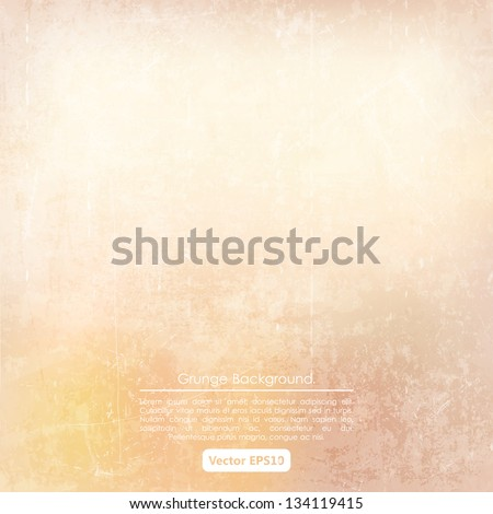 Grunge beige background - stock vector