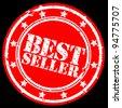 Grunge best seller rubber stamp, vector illustration - stock vector