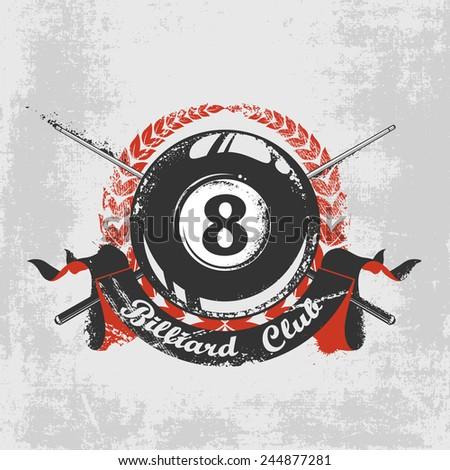 Grunge billiard background - stock vector