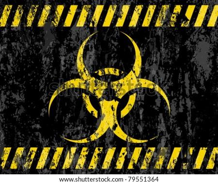 grunge biohazard sign background. Vector illustrator. - stock vector