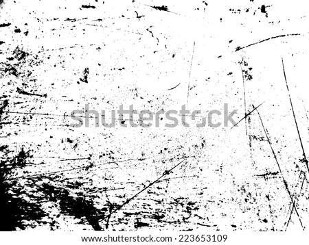 Grunge Black and White Distress Texture .