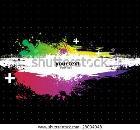 Grunge Black background with a colorful rainbow ink splat effect 5