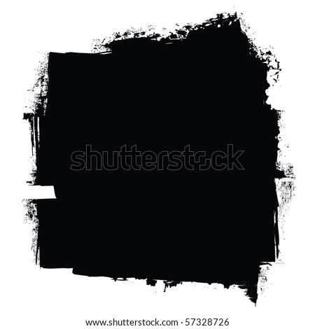 grunge black roller marks with ink effect background - stock vector