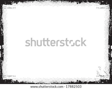 Grunge border - vector - stock vector