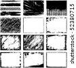 Grunge borders - stock vector