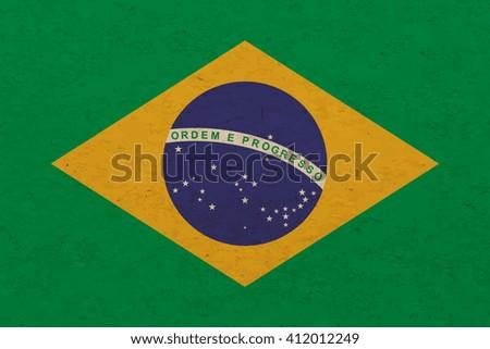 Grunge Brazil flag background - Vector - stock vector