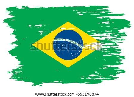 grunge brazilian flag vector flag brazil stock vector 2018 rh shutterstock com brazil flag vector ai brazil flag vector
