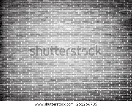 Grunge brick wall texture. Vector background - stock vector