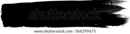 Grunge Brush Stroke . Vector Brush Stroke . Distressed Brush Stroke . Black Brush Stroke . Modern Textured Brush Stroke . Dry Brush Stroke . - stock vector
