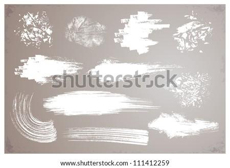 grunge brushes - stock vector