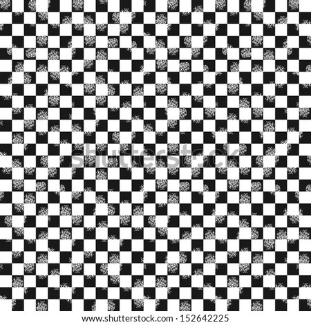 Grunge checkered seamless pattern (vector version) - stock vector