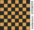 Grunge chessboard vector background. - stock vector