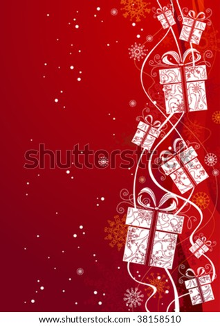 Grunge Christmas background, vector illustration - stock vector