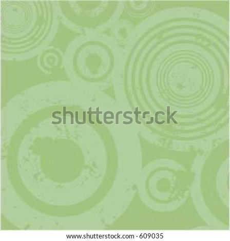 Grunge circle background - vector - stock vector
