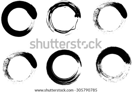 Grunge circles black and white .Grunge frames.Vector illustration.