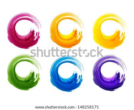 Grunge circles. Vector illustration for you design. EPS 10. - stock vector