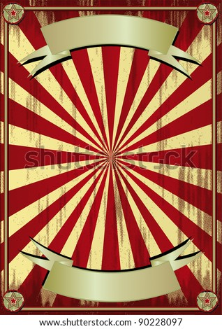 grunge circus background. Grunge background to make use of an advertising. - stock vector