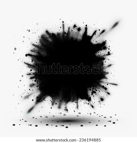 grunge cloud explosion - stock vector