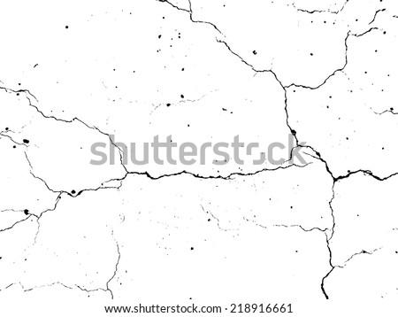 Grunge cracked texture. Vector illustration. - stock vector