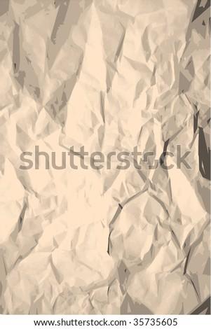 Grunge crumpled paper texture - stock vector