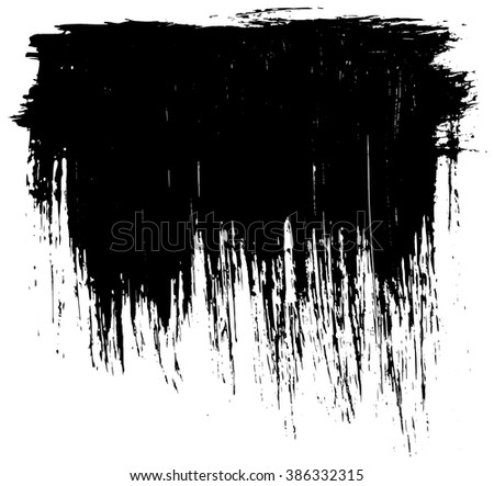 Grunge distressed paintbrush strokes background banner frame element illustration