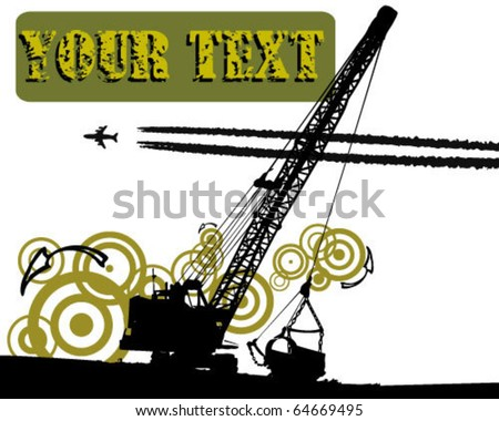 grunge Dredge - stock vector