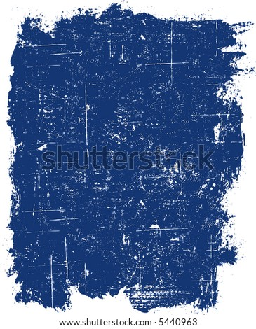 Grunge elements - Blue Grunge Square -  Highly Detailed vector grunge element - stock vector