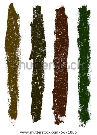 Grunge elements - Grunge Lines 3 - Highly Detailed vector grunge elements - stock vector