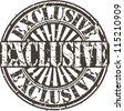 Grunge exclusive stamp, vector illustration - stock vector