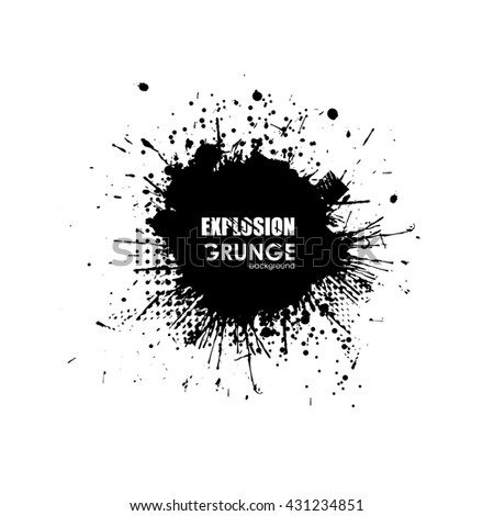 Grunge explosion. Cloud explosion dirt. Grunge style. Round grunge shapes. Dirty design elements for print - stock vector