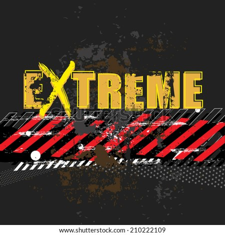 grunge extreme sport racing design, vector illustration background - stock vector