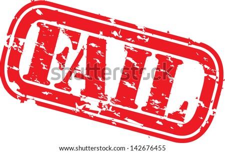 Grunge fail rubber stamp, vector illustration - stock vector