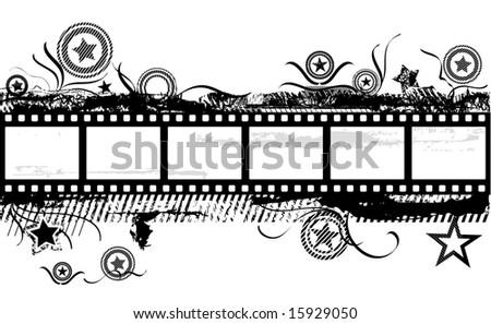 Grunge Film - stock vector