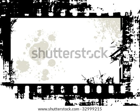 grunge film frame with space for your text or image, vector illustration - stock vector