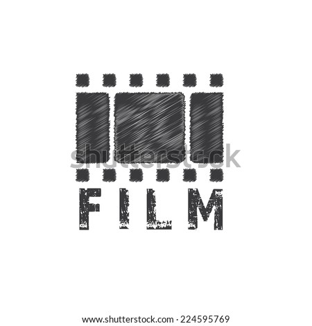 grunge film tape vector design template - stock vector