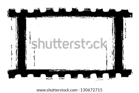 grunge filmstrip for vintage movies - stock vector