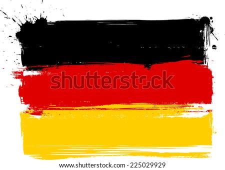 Grunge flag of Germany Bundesflagge und Handelsflagge - stock vector