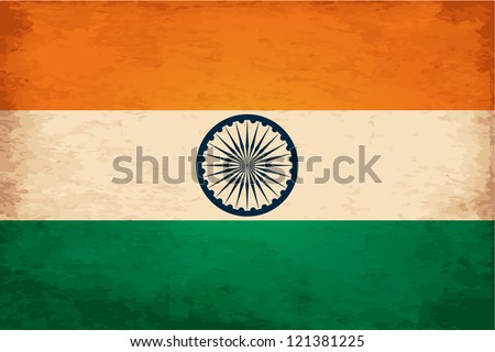 Grunge Flag of India - stock vector
