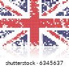Grunge flag of United Kingdom made from circles - stock photo