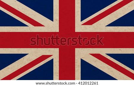 Grunge flag of United Kingdom - Vector - stock vector
