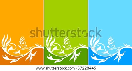 Grunge floral abstract background. Vector.