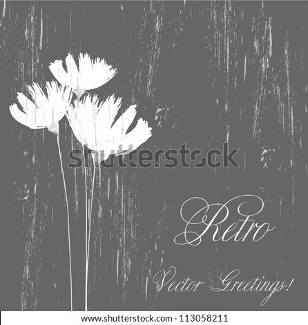 Grunge flower background - stock vector
