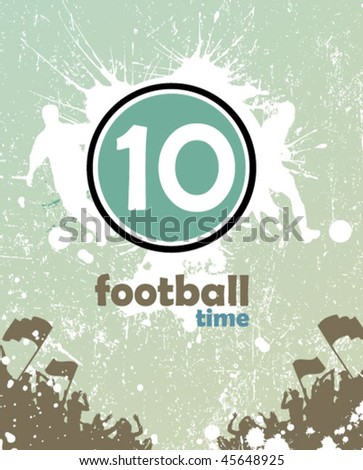 grunge football poster - stock vector