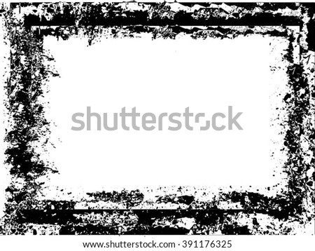 Grunge frame - abstract texture background. Isolated stock vector design template - easy to use