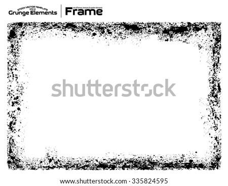 Grunge frame - abstract texture. Isolated stock vector design template - easy to use