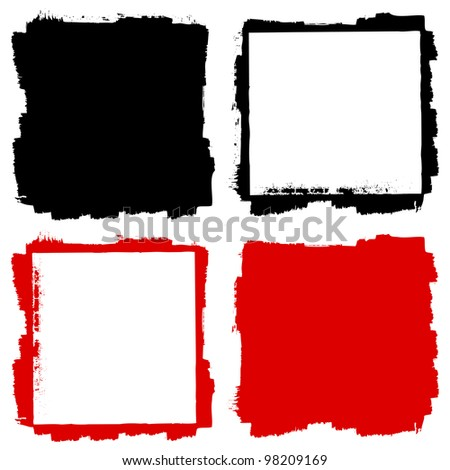 Grunge frame and background - stock vector