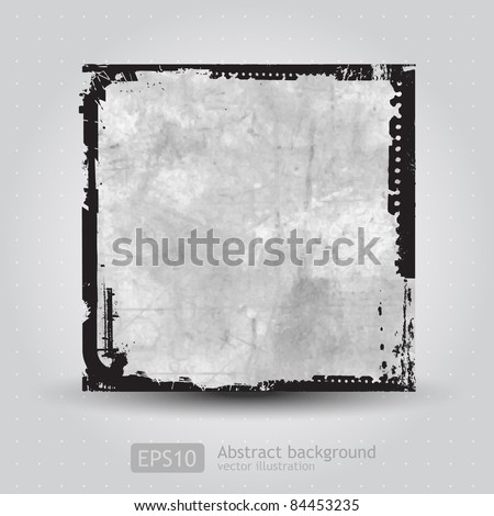 Grunge frame background - stock vector