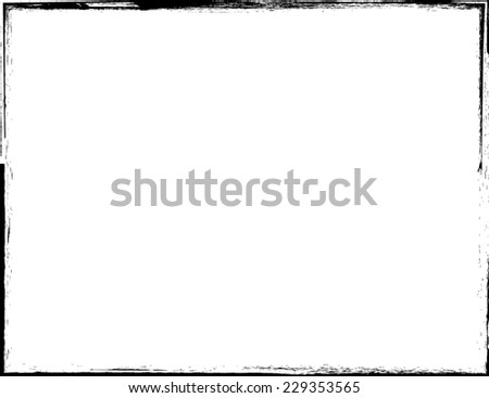 Grunge Frame. Distress Frame . Vector Illustration.  - stock vector