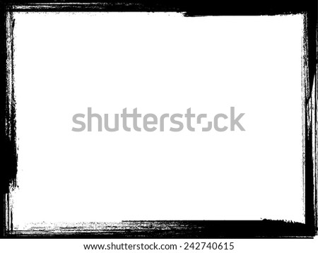 Grunge Frame. Distress Frame . Vector Illustration.  - stock vector
